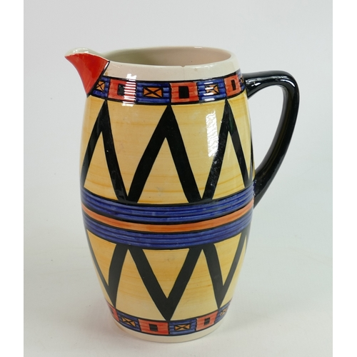 1 - Lorna Bailey Grecian Decorated large Jug: internal nip noted to rim, height 24cm