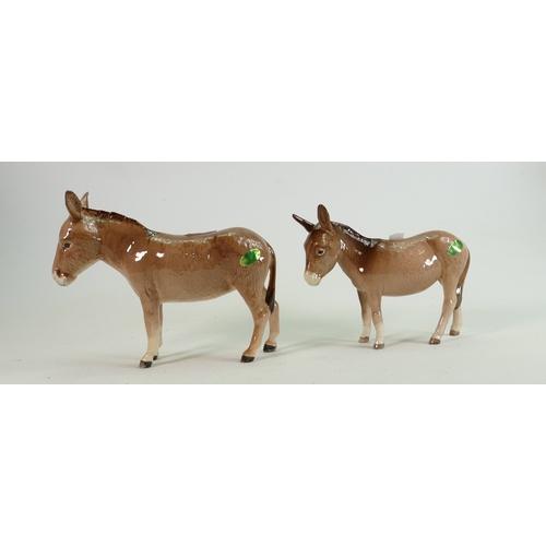 10 - Beswick Donkey 2267A: and 2210 foal (2)