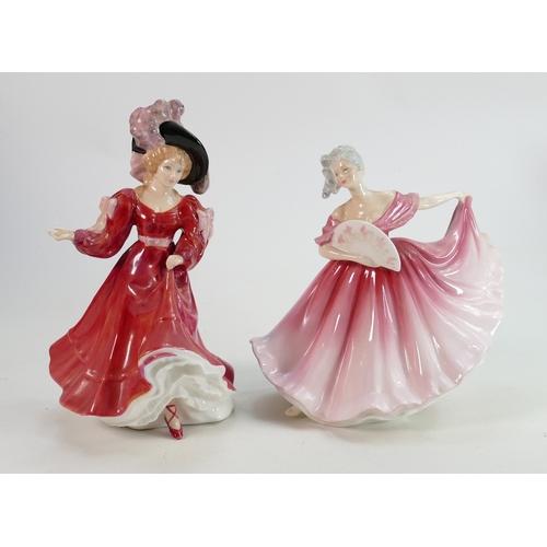 35 - Royal Doutlon Lady Figures: Patricia HN3365 & Eliane HN3307(2)