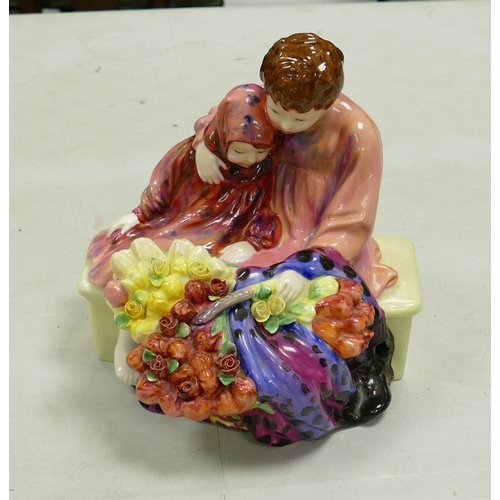 41 - Royal Doulton seconds character figure Flower Sellers Children HN1342: