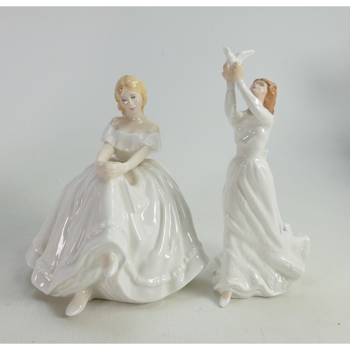 46 - Royal Doulton Lady Figures: Heather Hn2956 & Thinking of You(2)