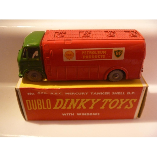 221 - dinky toys dublo AEC mercury shell tanker in superb original condition...