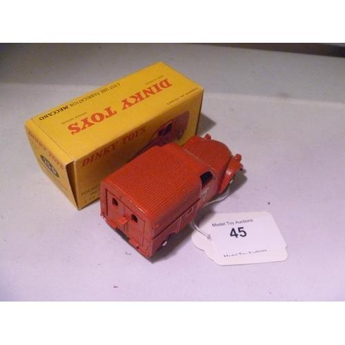 45 - dinky toys france citroen 2cv fourgon (model E box VG and complete)...
