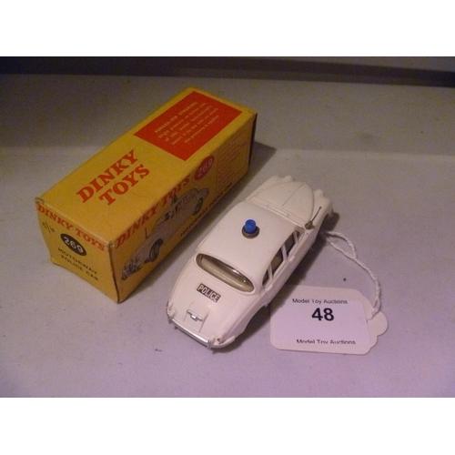 48 - dinky toys (model E, box G) jaguar police car...