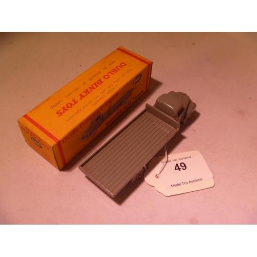 49 - dinky toys (model near mint, box VG) dublo bedford flat truck...