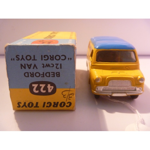 10 - corgi toys bedford van (model excelllent plus box good)...
