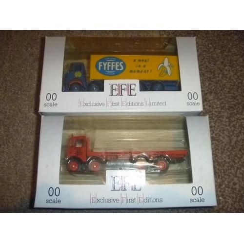 33 - 2 EFE 00 scale vehicles lorries