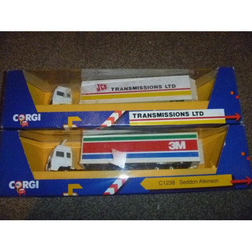 44 - 2 corgi toys lorries including seddon atkinson JCB AND 3M...