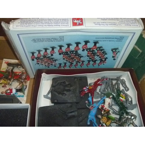 47 - METAL AND PLASTIC FIGURES BY BRITAINS CRESCENT CHAD VALLEY HORSES ETC