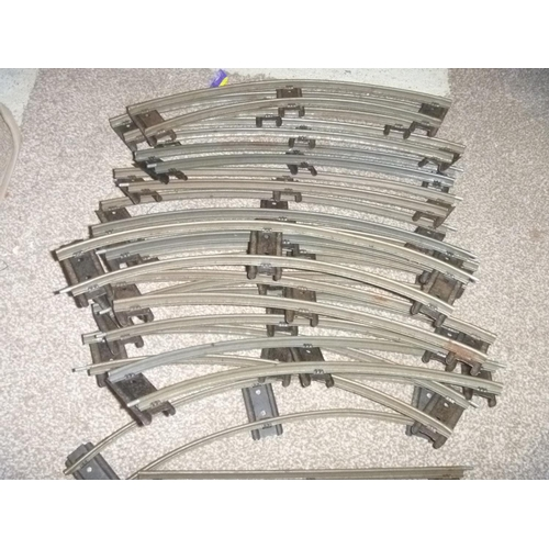 50 - HORNBY O GAUGE TINPLATE RAILS TRACK PIECES APPROX 30 PIECES