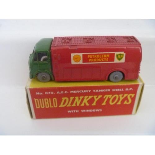 51 - DINKY TOYS DUBLO AEC MERCURY TANKER (BOX G MODEL VG BUT SOME RED PAINT ON BASE)