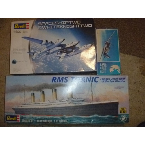 3 building kits unchecked 2 by revell