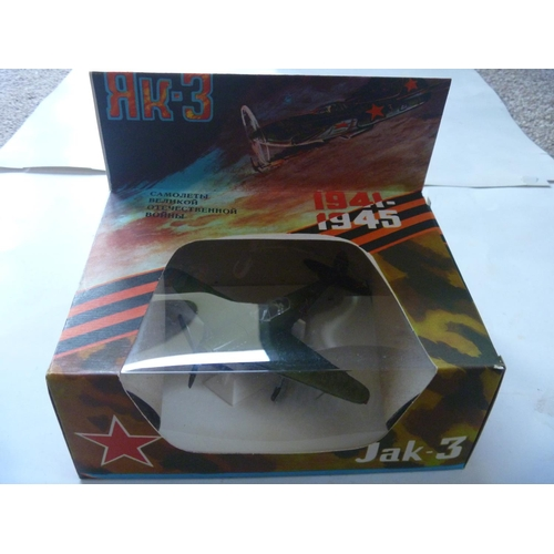1 - YAK-3 - WWII air fighter, scale 1:72, metal, Made in USSR with original box, production of these mod...