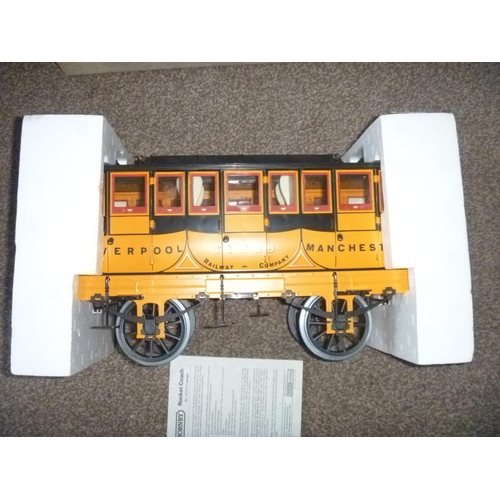 13 - Hornby Railways Stephenson's Rocket Live Steam Train: Coach 3.5 inch gauge, G104, untested for funct...