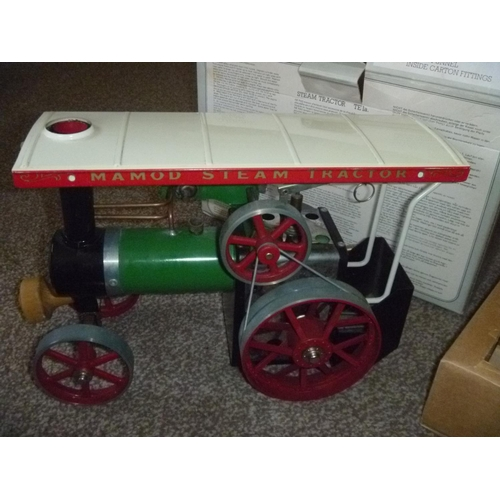 15 - Mamod Live Steam Tractor, TE 1a untested for function or completeness but appears to have had only l...