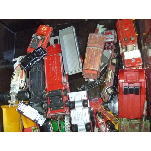 22 - Various diecasts, play-worn as found including corgi, matchbox etc for spares or repairs mostly...