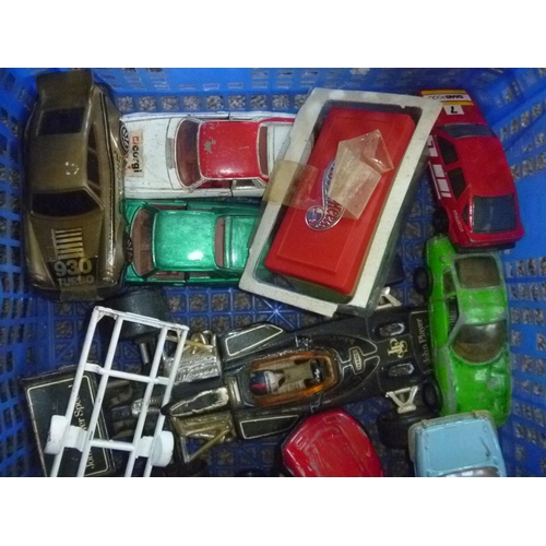 23 - Various diecasts, play-worn as found mostly corgi, and 2 hot wheels for spares or repairs mostly...