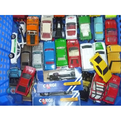 24 - Various diecasts, play-worn and better mostly corgi juniors and husky and 2 boxed examples....