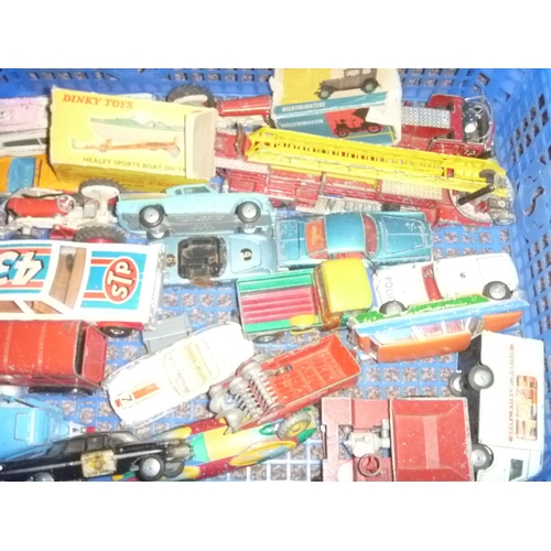 28 - Various 1960's Corgi and Dinky Toys diecasts playworn condition...