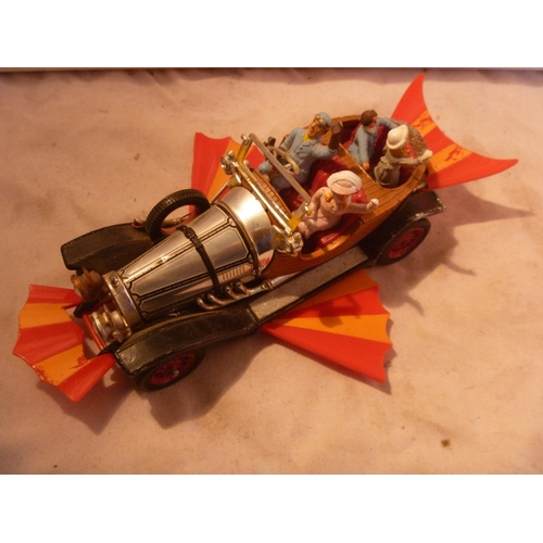 29 - Original Corgi Toys Chitty Chitty Bang Bang all figures and working wings, small areas of corrosion ...