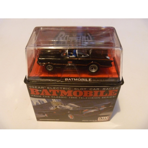 33 - BATMANS BATMOBILE HO OO SCALE SLOT CAR BY 4 GEAR USA - UNUSED AS NEW...
