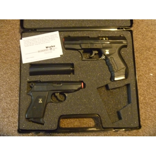 43 - WALTHER PPK AND P99 CAP GUN SET - LACKS NIGHT SIGHT...