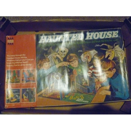 49 - DENYS FISHER BOARD GAME HAUNTED HOUSE - LACKING PARTS...