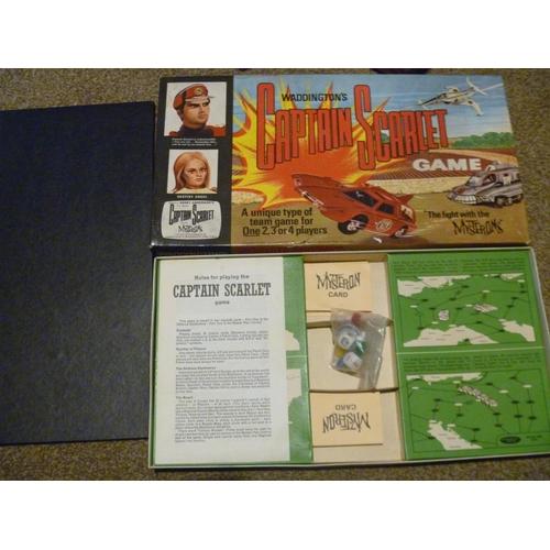 54 - CAPTAIN SCARLET GERRY ANDERSON VINTAGE 1960'S BOARD GAME...