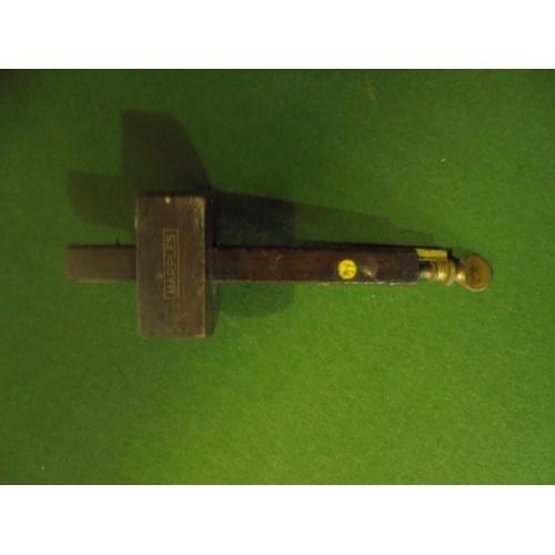 29 - Marples brass inlayed wooden scribe...
