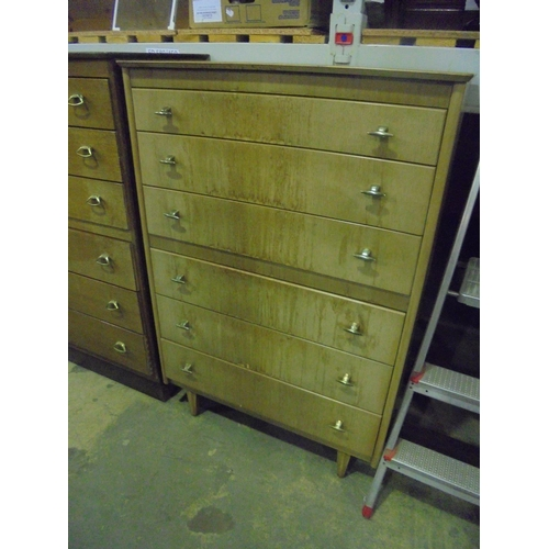 27 - Vintage chest of 6 drawers with metal handles...