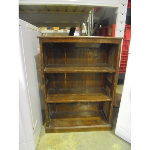 32 - Small wooden pine bookcase...