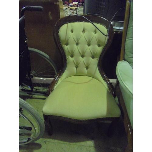 51 - Balloon back bedroom chair...