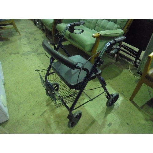 53 - Ableworld mobility walker with seat and basket...
