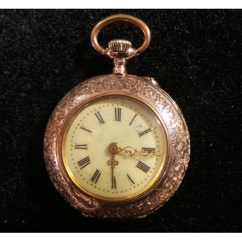 33 - Antique 14K Fob Watch Working Order...