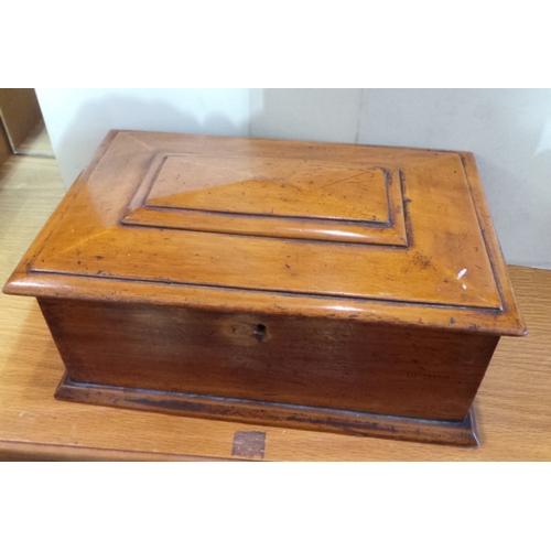 49 - Mahogany Stationary Box...
