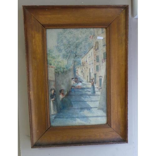 47 - Framed Picture - Street Scene...