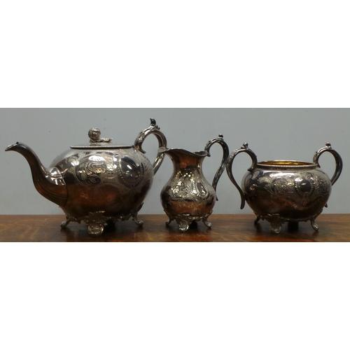 26 - 3 Piece EPBM Tea Service...