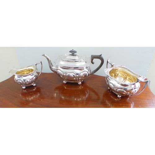 3 - 3 Piece E.P.N.S Tea Set...