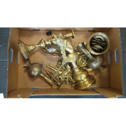 41 - Assorted Lot of Brassware...