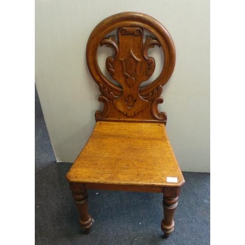14 - Oak Hall Chair...