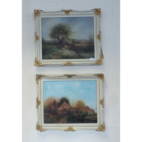 46 - Pair of Framed Oil On Canvas, Signed, 1930...