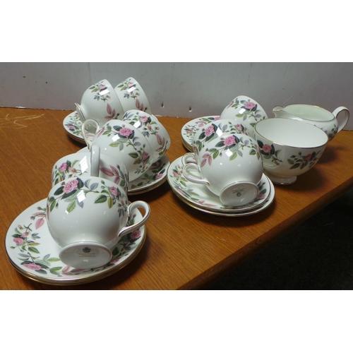 1 - Wedgwood 20 Piece Teaware - Hathaway Rose...