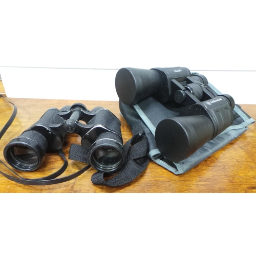 15 - Lot of 2x Pairs of Binoculars (one with soft case)...