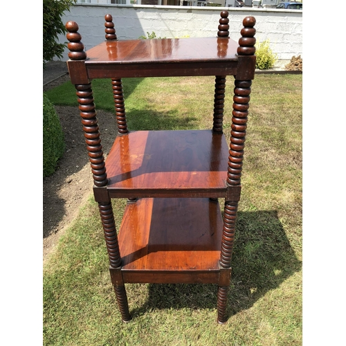 60 - Four Tier Victorian Mahogany What Knot...