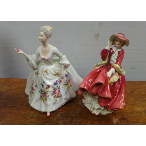 8 - Lot of 2x Royal Doulton Figures - Top o' The Hill and Diana...