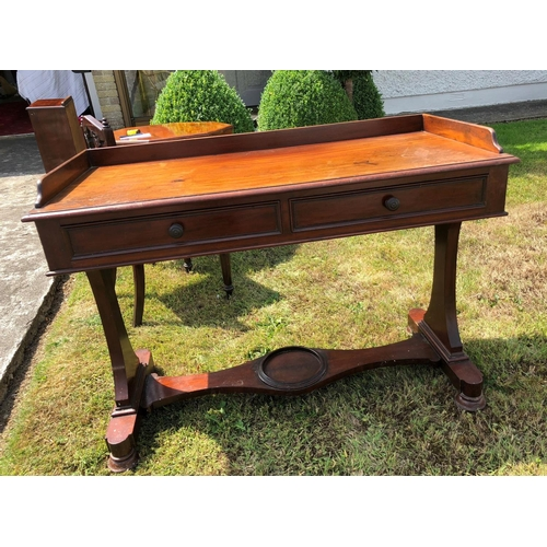 45 - Victorian Mahogany Side Table...