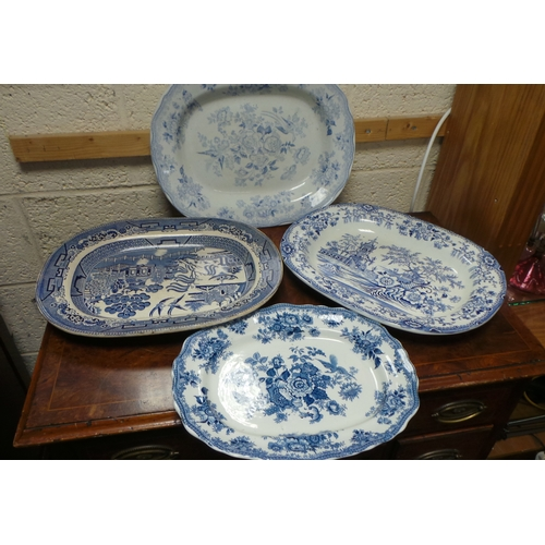49 - Lot of 4x Large Meat Dishes...