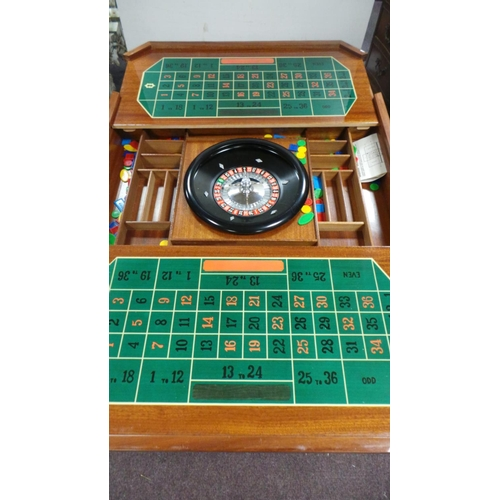 337 - Italian Style Games Table with Roulette Wheel...