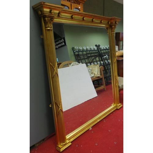 584 - Large Gilt Over mantle Mirror...