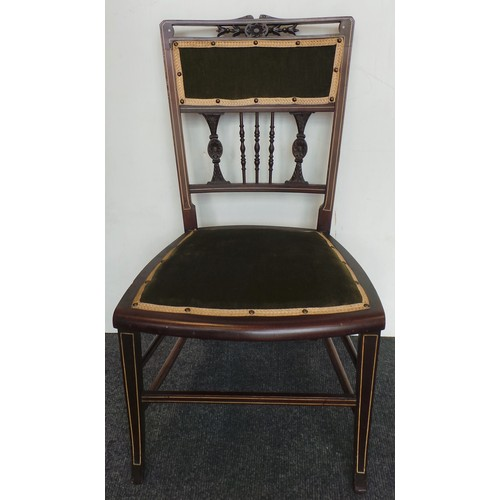 4 - Inlaid Bedroom Chair...